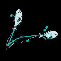 魚座の無料イラスト素材-商用利用可フリー素材